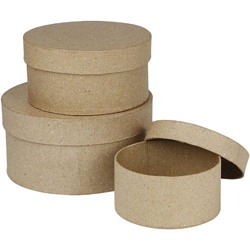 Schachteln, rund, 10+13+16 cm, 3 sort. Runde Box