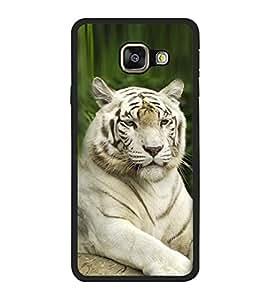 Fuson Designer Back Case Cover for Samsung Galaxy J3 (6) 2016 :: Samsung Galaxy J3 2016 Duos :: Samsung Galaxy J3 2016 J320F J320A J320P J3109 J320M J320Y (White tiger royal bengal tiger Fierce Tiger Greenish Cool Tiger)