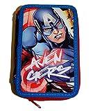 Marvel Avengers Captain America Iron man Astuccio 43pezzi 3Livelli Astuccio imbottito
