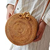 Best Disney Designer Diaper Bags - Beach Straw Bag Bohemian Rattan Handmade Small Round Review