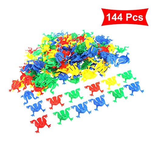 Toyvian Froschspiel Springende Frösche Spielzeug für Kinder Kleinkinder 144 stücke (Random)