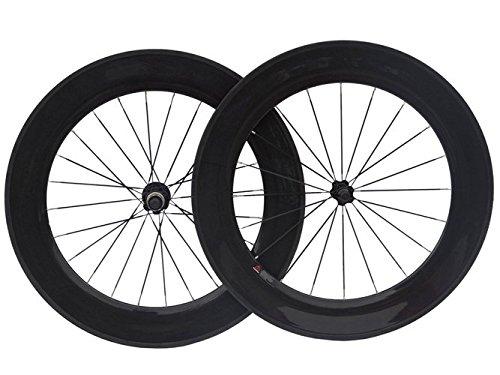 3K de carbono ruedas tubulares de bicicleta de carretera 88mm para rueda de bicicleta borde