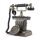Power uk Teléfono antiguo decorativo del hogar del teléfono fijo creativo del metal retro europeo del teléfono