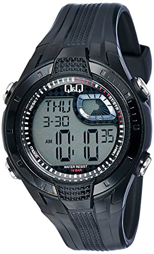 Q&Q Regular Digital Black Dial Men's Watch - M040-002 image