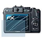 atFoliX Displayschutzfolie für Canon PowerShot G15 Schutzfolie - 3 x FX-Clear kristallklare Folie