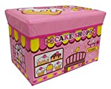 #10: Baybee Premium Cake Shop Collapsible Toy Storage Organizer | Toy Box Folding Storage Ottoman for Kids Bedroom | Perfect Size Toy Chest for Books, Kids Toys, Baby Toys, Baby Clothes (Pink)