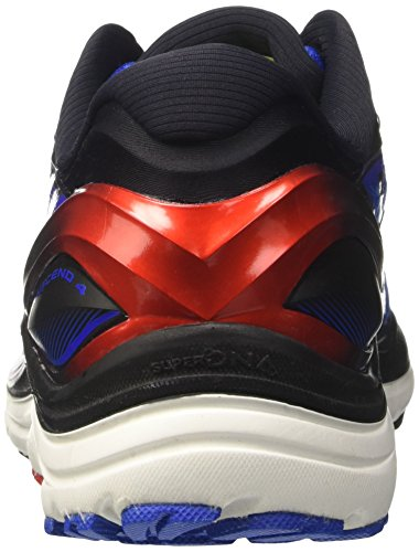 Brooks Herren Transcend 4 Laufschuhe Blau (Electric Blue/black/high Risk Red)