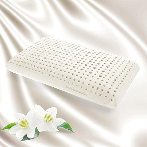 Goldflex–cuscino in lattice a forma di sapone, 14cm di altezza, con canali di ventilazione, traspirante, con un guscio rivestito in tessuto in cotone al 100%