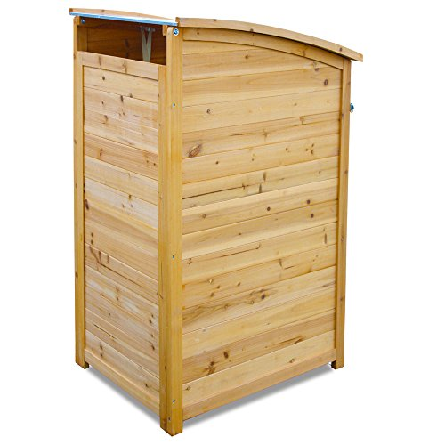 Habau Mülltonnenverkleidung Mülltonnenbox 120, Gelb, 65 x 75 x 115 cm - 3