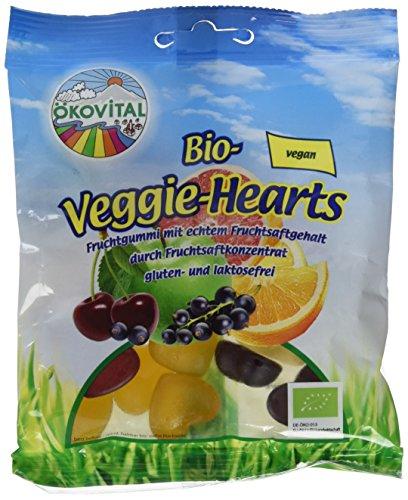Ökovital Bio-Fruchtgummi Veggie-Hearts, vegan, glutenfrei, laktosefrei