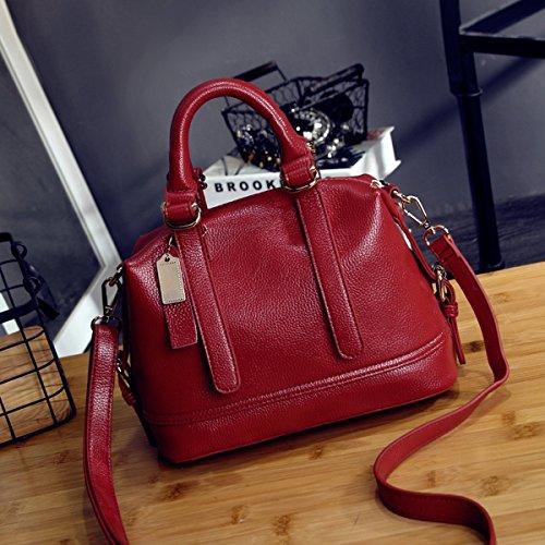 Weibliche mode wilde pendeln Schräge tasche handtasche Rotwein