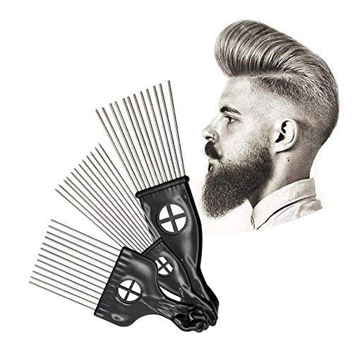 Peine afro metal peinar cabello peinar cabello acero