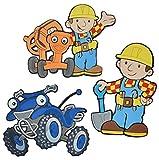 Unbekannt 3 tlg. Set: 3-D Wandtattoo / Wandbild / Türschild - Bob der Baumeister aus Moosgummi - Sprinti Baustelle Wandsticker Wanddeko für Kinderzimmer Kind Kinder Deko Bilder