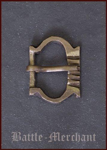 Hochmittelalter Schnalle aus Messing, Nr. 7 - Riemenbreite: bis ca. 20 mm