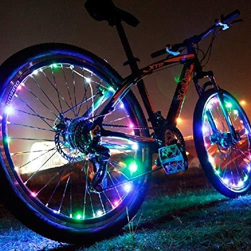 HQ's perfect store Équipement de vélo Rayons LED pour vélos, 15 LED, ABS, PE Sûr et Pratique