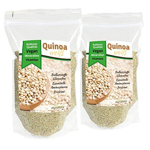 Mynatura Quinoa Samen in Premium-Qualität Doppelpack (2x 1000g Beutel)