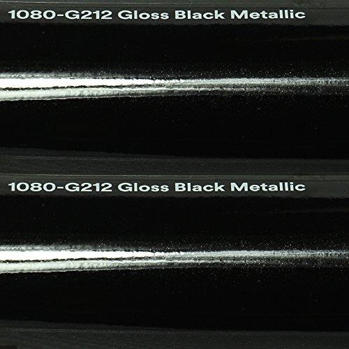 Preisvergleich Produktbild 3M Autofolie Scotchprint Wrap Film 1080 gloss G212 black metallic gegossene Glanz Profi Folie 152cm breit BLASENFREI mit Luftkanäle