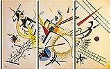 1art1 82455 Wassily Kandinsky - Komposition, 1922, 3-Teilig Poster Leinwandbild Auf Keilrahmen 180 x 120 cm