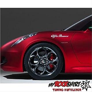 Alfa Romeo 2x 20cm Aufkleber Tuning Scheibe Lack TYP-MRS385 `+ Bonus Testaufkleber