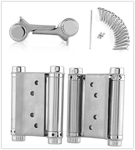 FEMOR Cerniere in Acciaio Inox 2 × 75mm Cerniera a Molla per Porta di Spessore 20-25mm