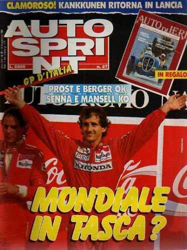 Autosprint Auto Sprint 37 Settembre 1989 Prost Berger Senna Mansell