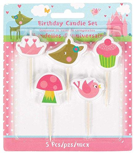 Amscan-171623Woodland Princess palillo velas