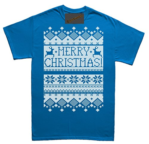 Renowned Merry Christmas Cool Vibrant white Unisex - Kinder T Shirt Blau