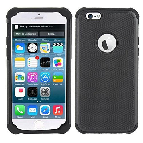 The Guardian by Cell Toolz Hybrid-Schutzhülle für iPhone 6 4.7, Schwarz (Iphone 6 Sprint Schwarz)