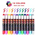 Hair Chalk, 12 Colors Temporary Hair Chalk Pens Set Washable and Non-Toxic Hairpins Hair Color for Kids and Teens Suitable for Cosplay, Party, Christmas Halloween Birthday