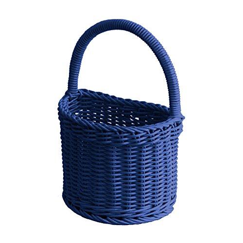 Saleen 02093578101 Badezimmerkorb halbrund Circa 18 x 11 x 14/26 cm, Marine blau