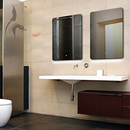 Badspiegel mit LED Beleuchtung, Hamburg 50x70cm, LED Bad Spiegel, Energieklasse A+