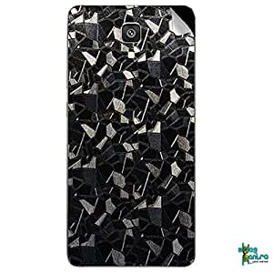 Swagmantra Black Cubes Original Textured mobile skin for Xiaomi MI4