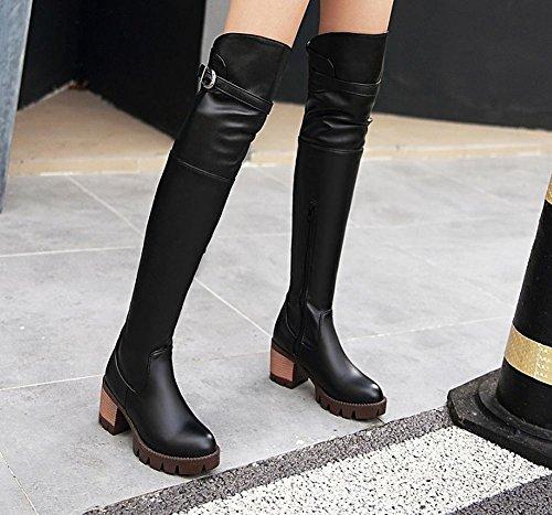 Bottes Femme Misssasa Bottes Simples Élégantes Noir