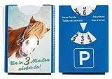 Fun Spaß Motiv Parkscheibe mit Eiskratzer und Gummilippe witziges Pony