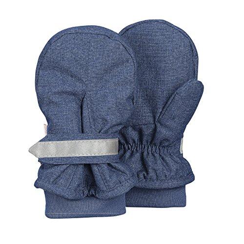 Sterntaler Baby-Jungen Fäustel Gants, Bleu (tintenbl Mel 376), 1 Bébé Garçon Handschuhe, Blau, 1