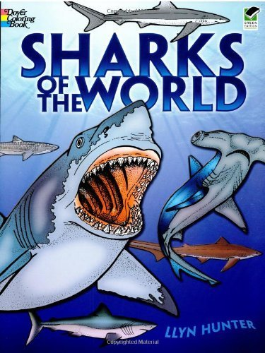 Sharks of the World Coloring Book (Dover Nature Coloring Book) by Llyn Hunter (1989) Paperback