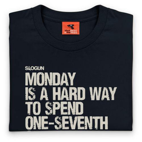 General Tee Monday T-Shirt, Herren Schwarz