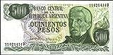 argentine Pick-no: 303c 1977 500 Pesos (billets de banque pour les collectionneurs)