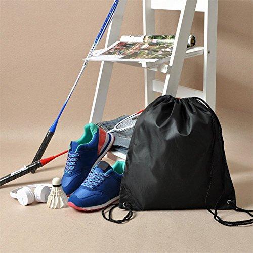 Imagen de lameida impermeable mochilla de cuerdas lazo  bolsa de gimnasio de deportes de tela de lino y algodón para gimnasio natación deportes aire libre estudiantes alumnos alternativa