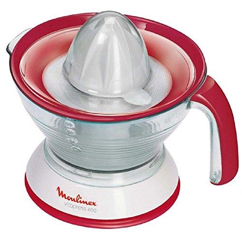 Moulinex Vitapress 600 - Exprimidor,doble filtro, 0.6 litros, rojo