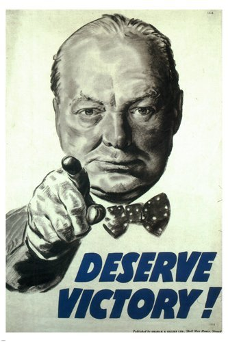 deserve-victory-vintage-war-poster-winston-churchill-uk-1945-24x36-rare-hot-by-hse
