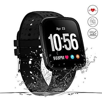 Monitor de actividad,reloj inteligente de fitness,pantalla HD,monitor de actividad con podómetro/frecuencia cardíaca y monitor,alarma de running ...