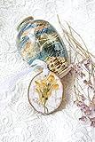 Getrocknete Blumen halskette Realer Blumen anhänger Blumen schmuck sachen Naturs chmuck sache harz schmuck sachen Botanischer Anhänger hölzerner Harzanhänger Blumen schmuck sachen hölzerne rustikale Schmuck halskette Herbst