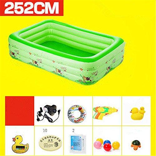 Verdicken umweltfreundliche PVC Baby Kinder schwimmen gefaltet aufblasbare quadratische Familie Pool Ball Pool 252 * 170 * 61cm geeignet für über 3 Jahre alt