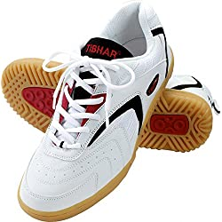 Tibhar - Zapatillas de tenis de mesa para hombre, color blanco, talla 41
