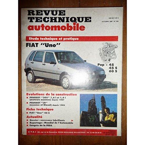 RTA0520 - REVUE TECHNIQUE AUTOMOBILE FIAT UNO POP - 45 - 45S - 60S