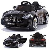 CROOZA - MERCEDES Mercedes-Benz GT-R GTR SoftStart Kinderauto Kinderfahrzeug Kinder Elektroauto Schwarz