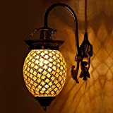 EarthenMetal Handcrafted Bud Shaped Glittering Glass Wall Lamp