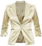Eleganter Damenblazer Blazer Baumwolle Jäckchen Business Freizeit Party Jacke in mehreren Farben 36 38 40 42