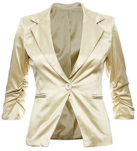 Giovani & Ricchi Blazer pour femme Différents coloris Gold Metallic